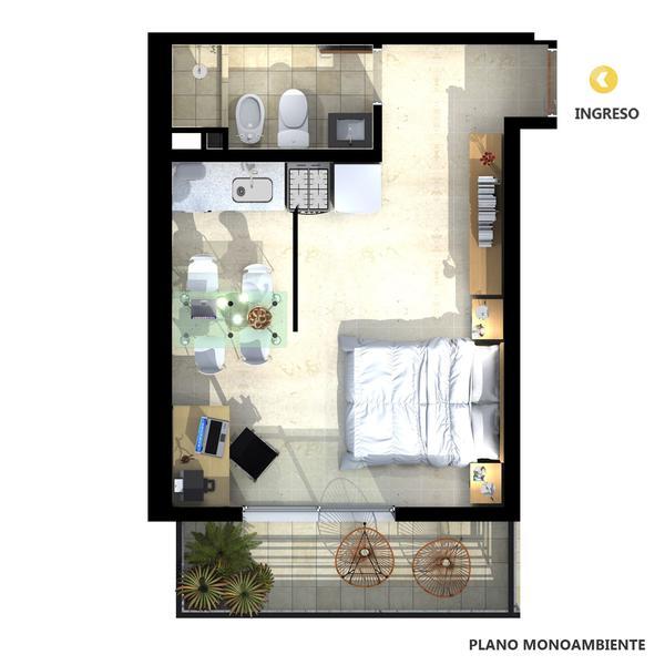 venta departamento monoambiente Rosario, PARAGUAY AL 300 - Roma. Cod CBU21847 AP2199653 Crestale Propiedades