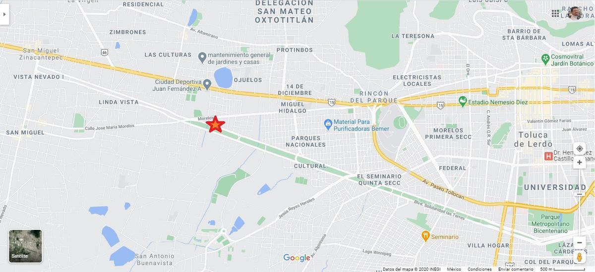Foto Terreno en Renta en  San Mateo OxtotitlAn,  Toluca  TERRENO en RENTA sobre AV las TORRES,  entre ZINANCATEPEC y UAEM CU  TOLUCA