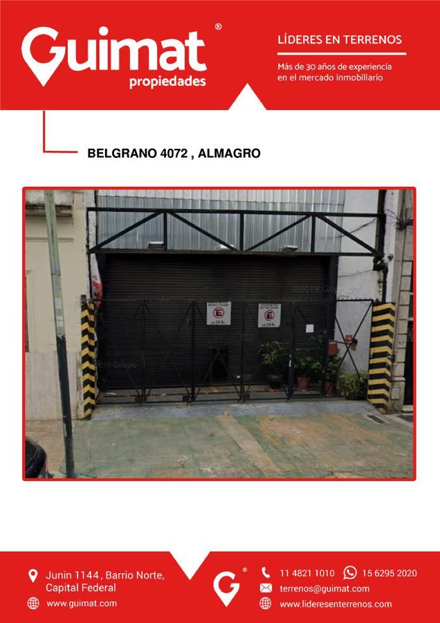 Foto Terreno en Venta en  Almagro ,  Capital Federal  BELGRANO al 4000