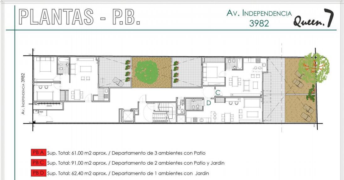 Foto Departamento en Venta en  Almagro ,  Capital Federal  Av. Independencia 3900 PB° D