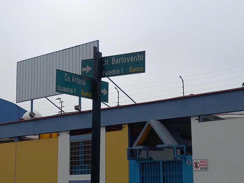 Foto Local en Venta en  Santiago de Surco,  Lima  Calle Barlovento