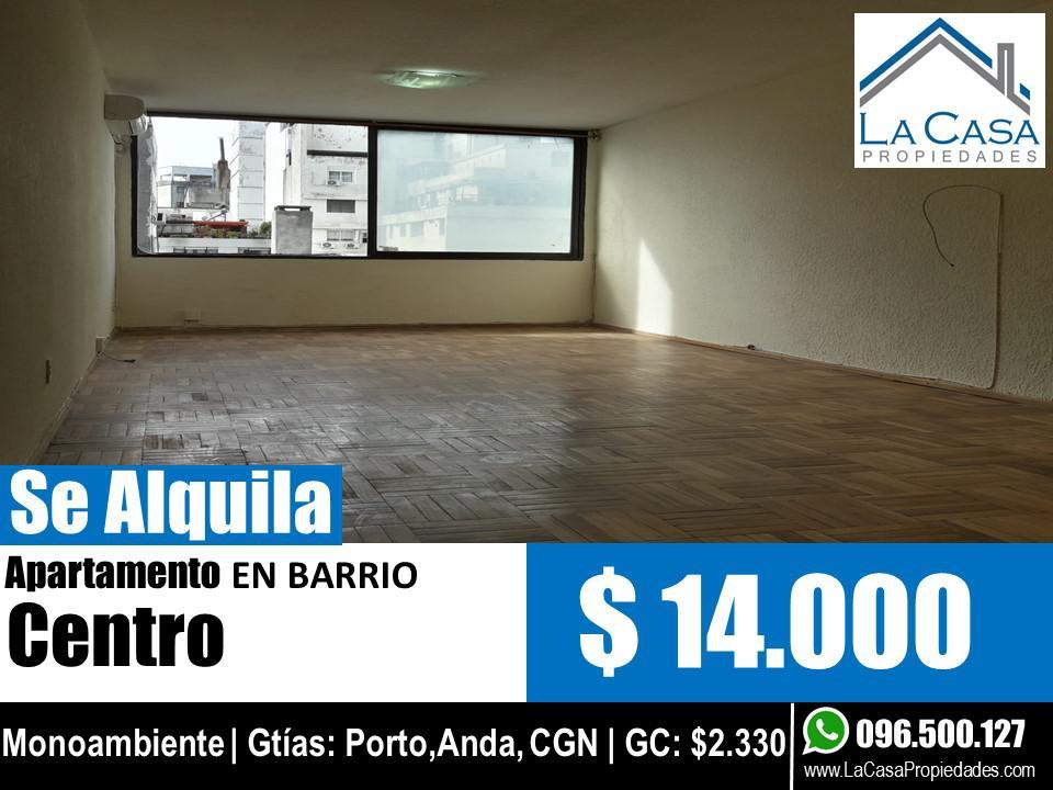 Foto Apartamento en Alquiler en  Centro (Montevideo),  Montevideo  Rio Negro al 1300