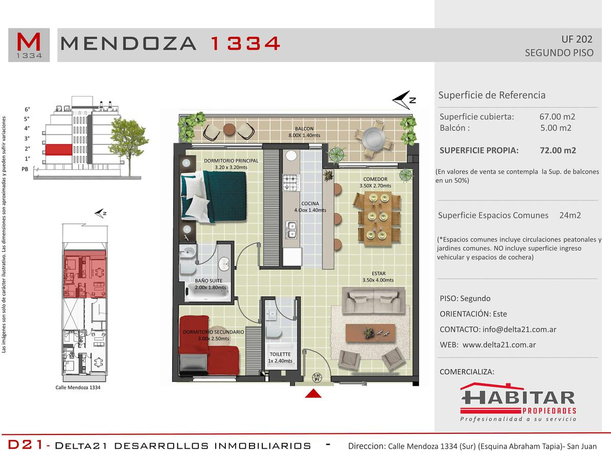 Foto Departamento en Venta en  Trinidad,  Capital  Calle Mendoza Sur 1334 - Capital