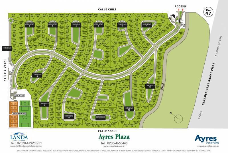 Foto Terreno en Venta en  Ayres Plaza,  Countries/B.Cerrado (Pilar)  Lote Ayres Plaza C10 0 al 100