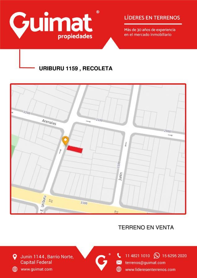 Foto Terreno en Venta en  Recoleta ,  Capital Federal  URIBURU al 1100