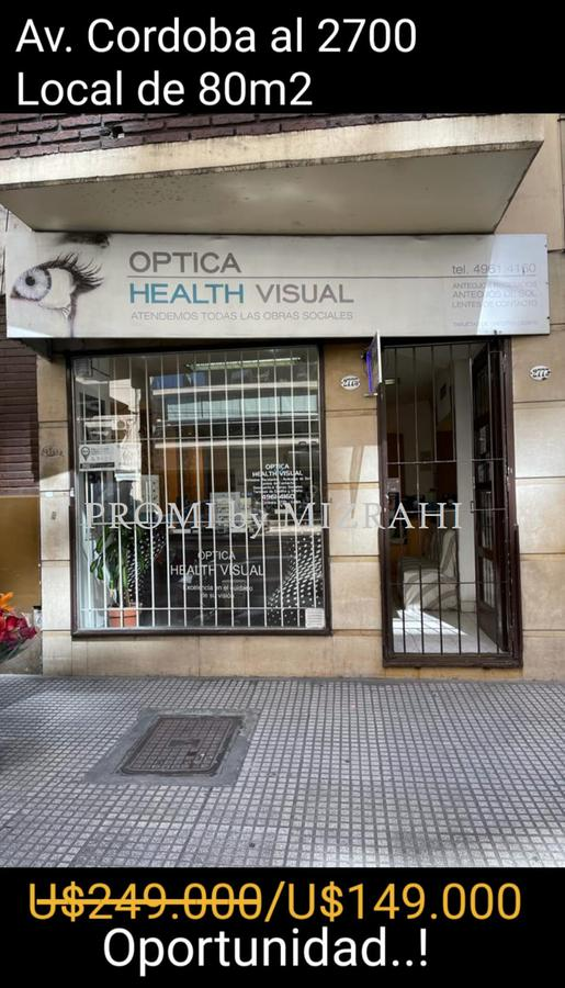 Foto Local en Venta en  Barrio Norte ,  Capital Federal  AV. CORDOBA AL 2700