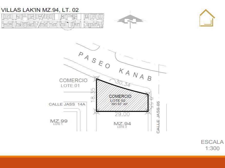 Foto Terreno en Venta en  Benito Juárez ,  Quintana Roo  Lote comercial en venta | Villas lak'In Cancun