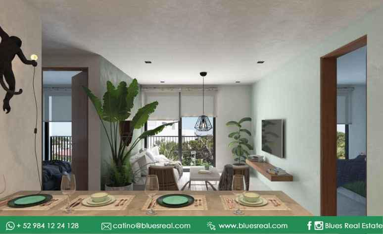 Picture Apartment in Sale in  Solidaridad ,  Quintana Roo  NEW condos for sale in Playa del Carmen en Urban Towers | Blues Real | Code 608