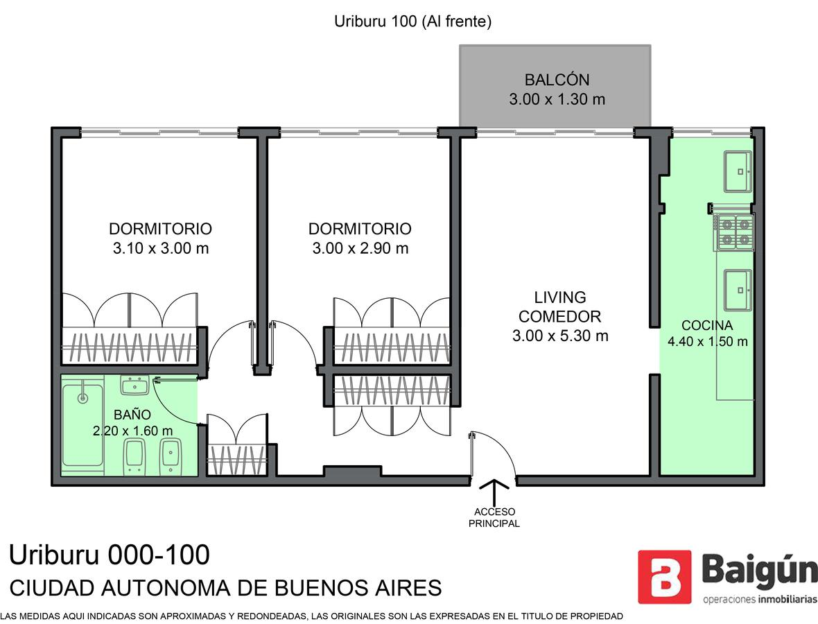 Foto Departamento en Venta en  Congreso ,  Capital Federal  URIBURU 75 12° I