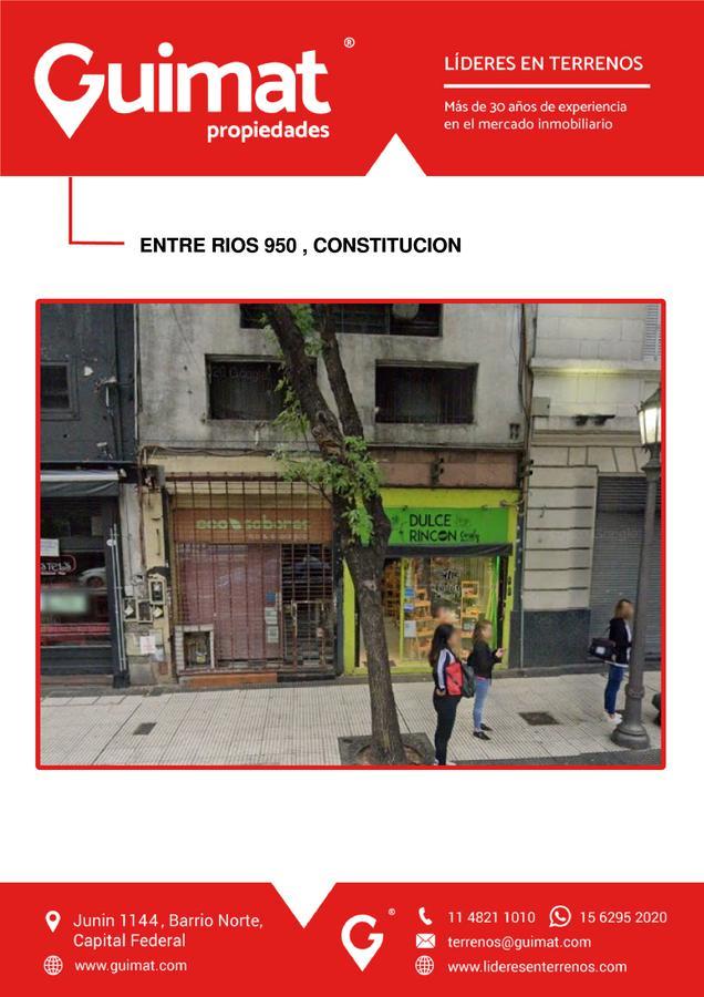 Foto Terreno en Venta en  Constitución ,  Capital Federal  ENTRE RIOS al 900