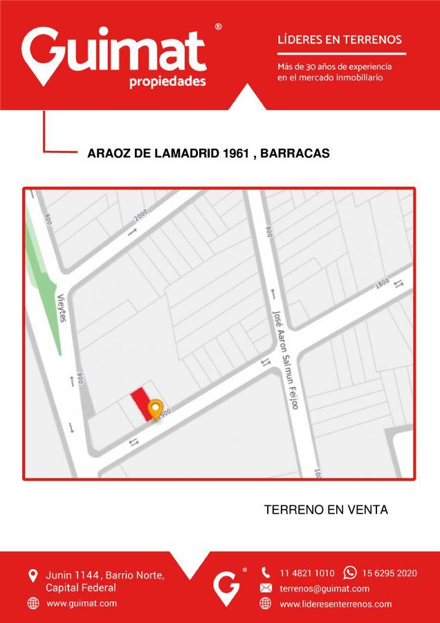 Foto Terreno en Venta en  Barracas ,  Capital Federal  ARAOZ DE LAMADRID al 1900
