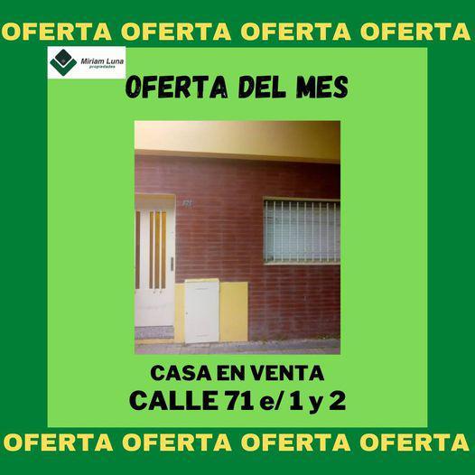 Foto Casa en Venta en  La Plata ,  G.B.A. Zona Sur  71 e/ 1 y 2