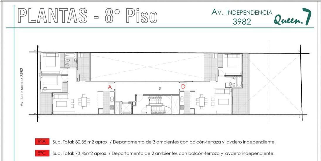 Foto Departamento en Venta en  Almagro ,  Capital Federal  Av. Independencia 3900 8°A