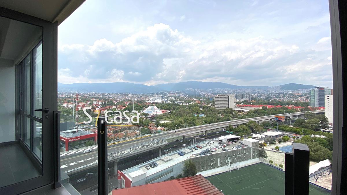 Foto Departamento en Renta en  Jardines del Pedregal,  Alvaro Obregón  Departamento en renta, Jardines del Pedregal, Be Grand Pedregal, con balcon.  Frente a T.V. Azteca