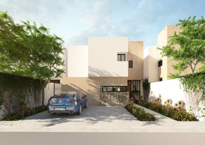 Foto Casa en Venta en  Pueblo Dzitya,  Mérida  Casa venta Dzitya Merida, Privada de 2 pisos con alberca