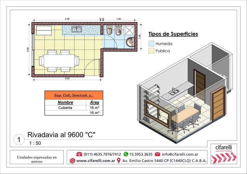 Foto Departamento en Venta en  Villa Luro ,  Capital Federal  Av. Rivadavia al 9600 4°C