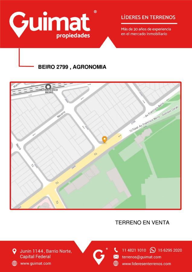 Foto Terreno en Venta en  Agronomia ,  Capital Federal  FRANCISCO BEIRÓ al 2700