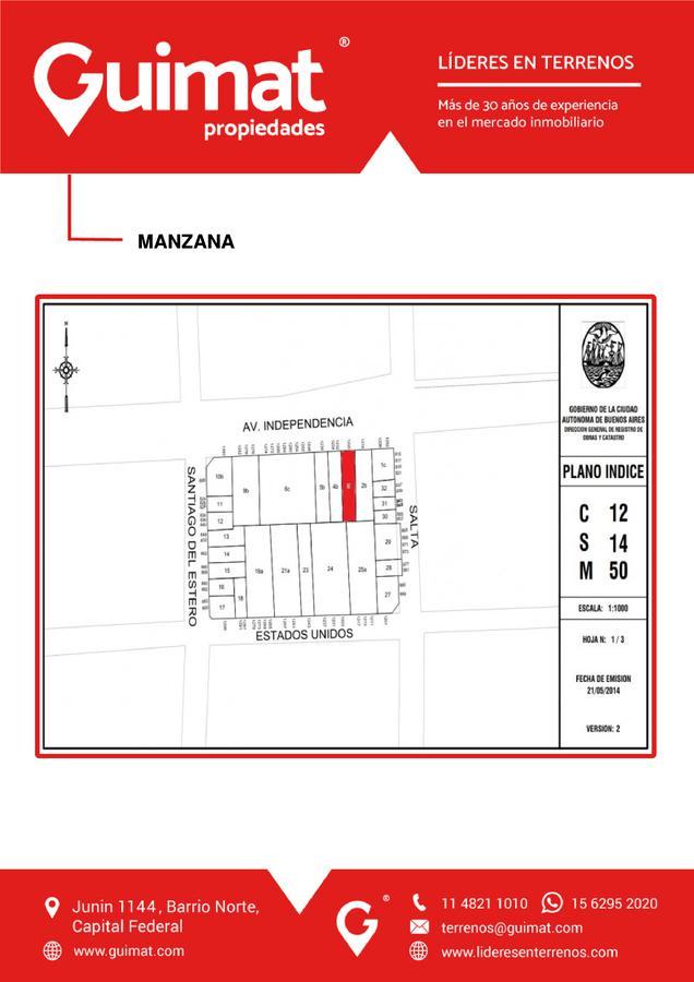 Foto Terreno en Venta en  Constitución ,  Capital Federal  INDEPENDENCIA al 1200