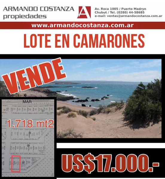 Foto Terreno en Venta en  Camarones,  Florentino Ameghino  PASAJE COSTANERO