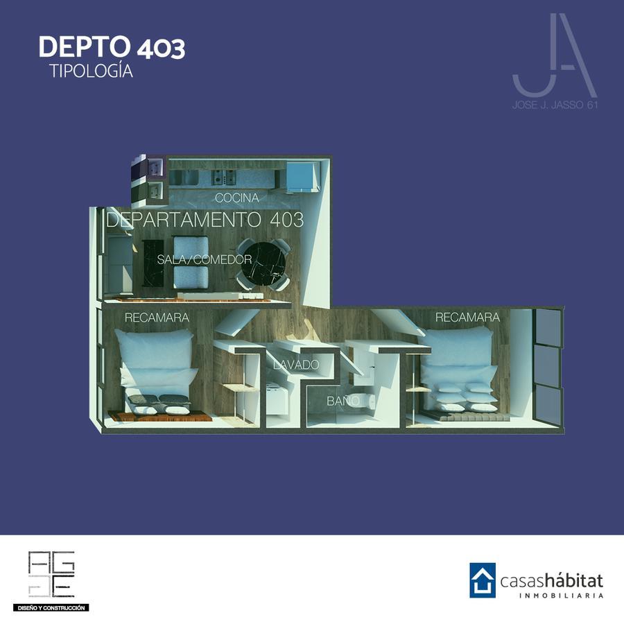 Foto Departamento en Venta en  Venustiano Carranza ,  Ciudad de Mexico  José J Jasso 61 - 403