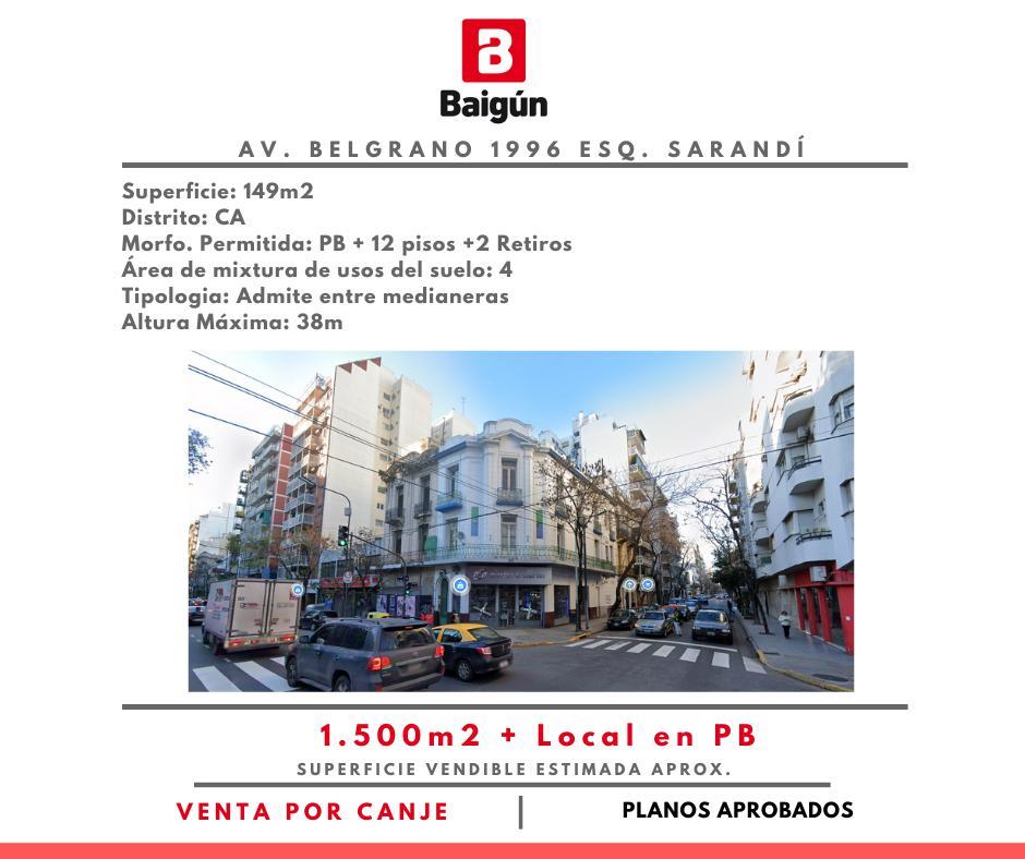 Av. Belgrano 1996 esq. Sarandí