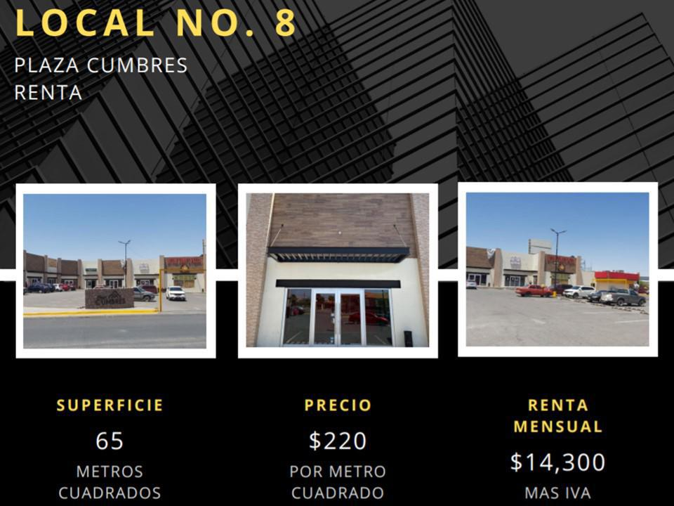 Foto Local en Renta en  Chihuahua ,  Chihuahua  LOCALES EN RENTA EN PLAZA COMERCIAL SOBRE VIALIDAD CHEPE Y PACHECO