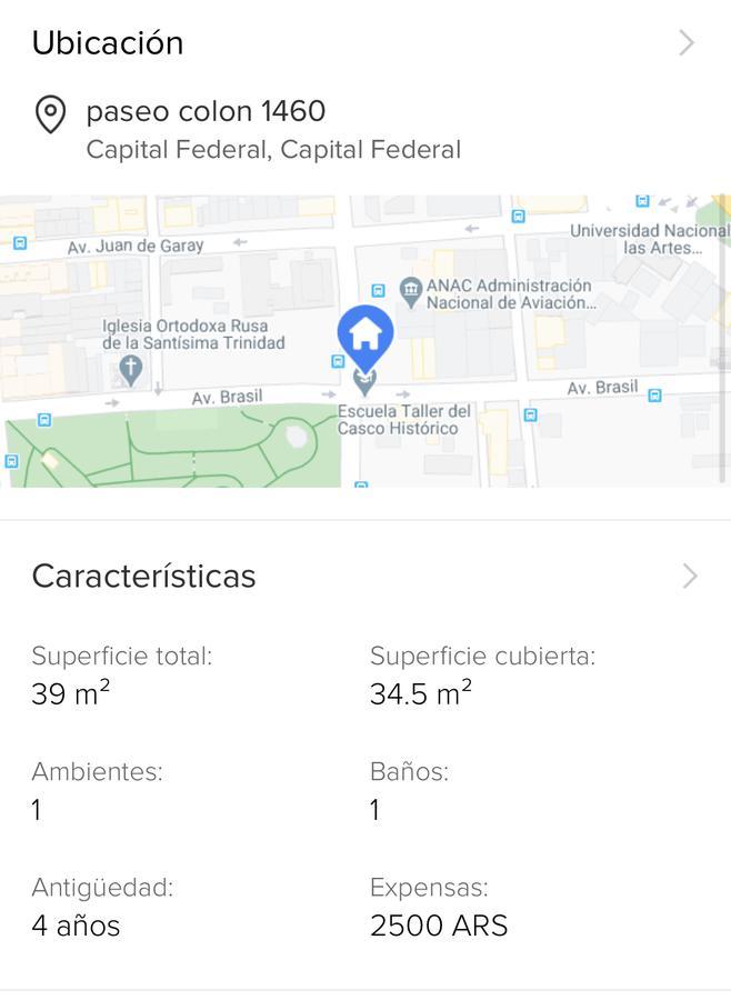 Foto Departamento en Venta en  San Telmo ,  Capital Federal  Paseo Colon al 1400