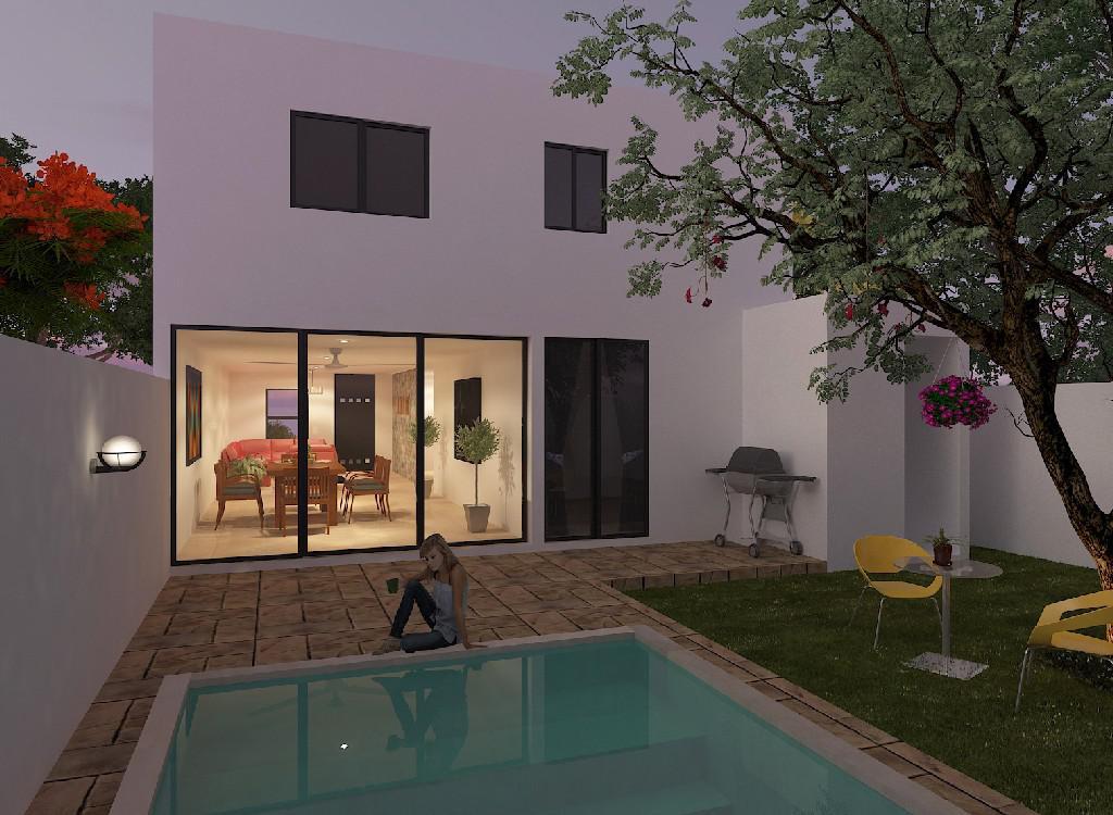 Foto Casa en Venta en  Pueblo Conkal,  Conkal  Casa en Privada Botanico(mod 210)lote 117