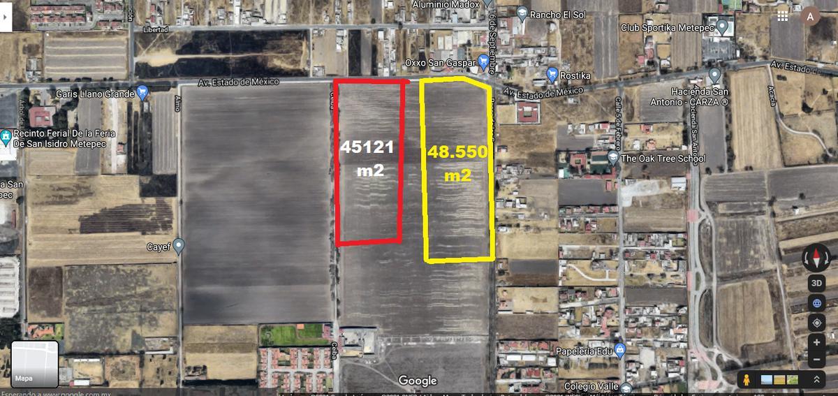 Foto Terreno en Venta en  Metepec ,  Edo. de México  Terrenos Residenciales/ Comerciales de 48 y 45 mil m2 en Avenida Estado de México, Metepec