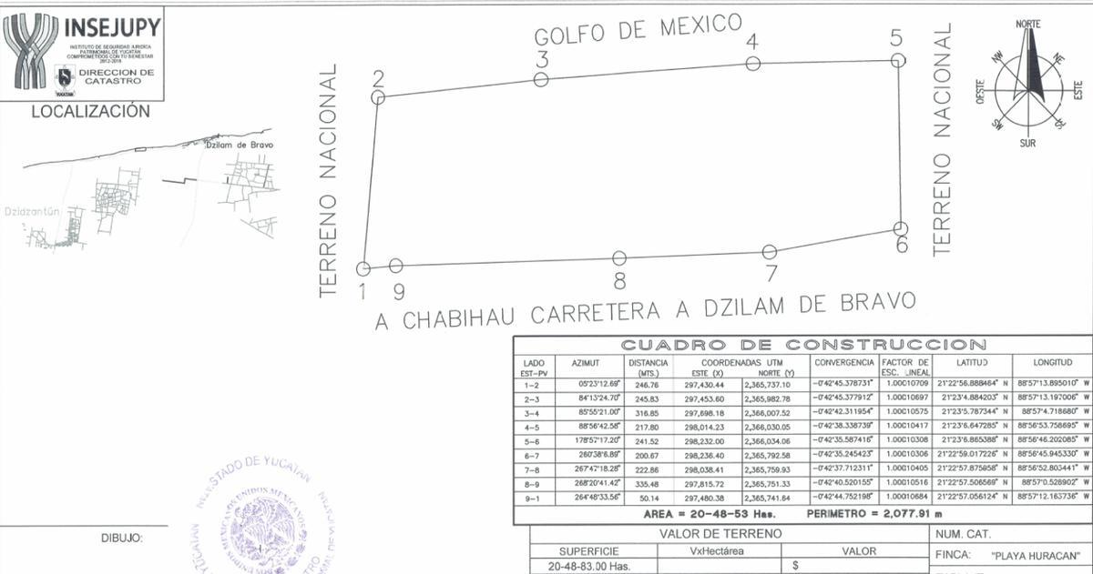 Foto Terreno en Venta en  Dzilam de Bravo ,  Yucatán  DZILAM DE BRAVO TERRENO DE INVERSION