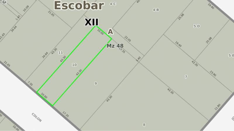 Foto Terreno en Venta en  Belen De Escobar,  Escobar  COLON 751