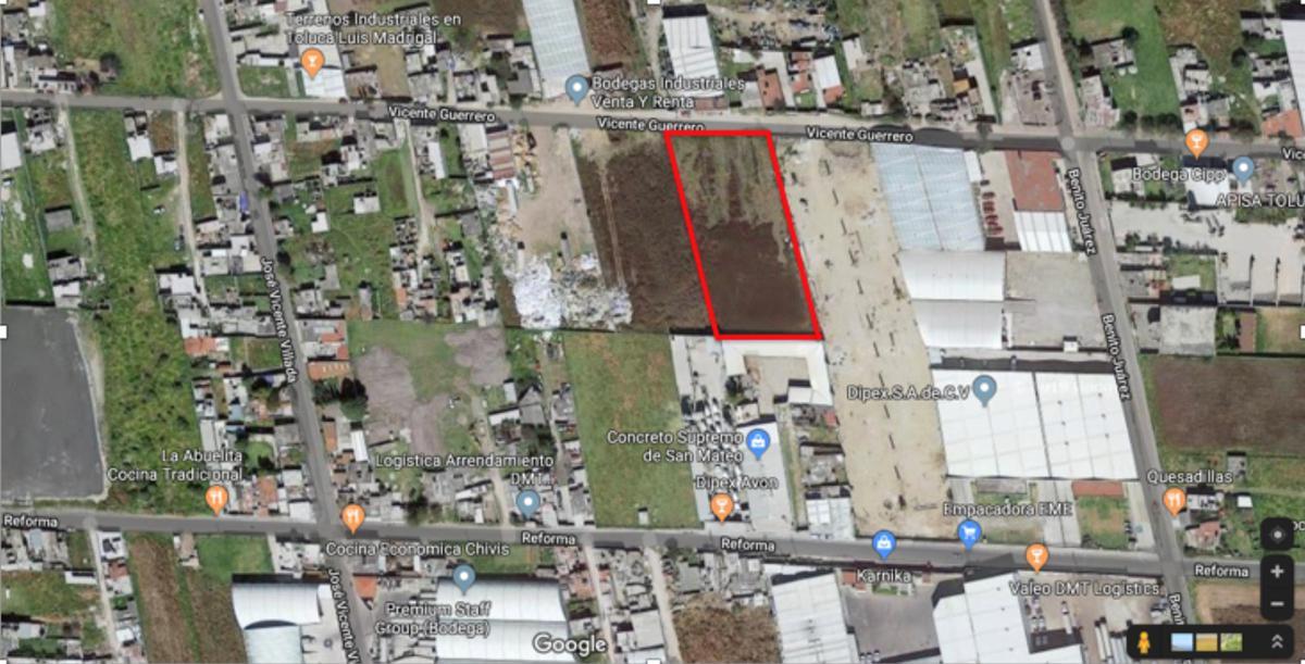 Foto Terreno en Venta en  San Mateo Atenco ,  Edo. de México  Venta de Terreno industrial 5,000m2 en San Mateo Atenco