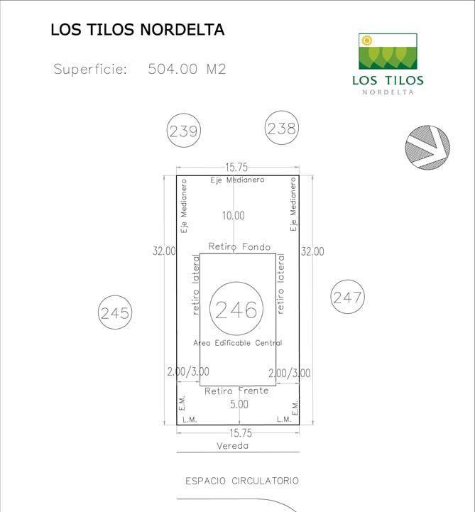 Foto Terreno en Venta |  en  Las Tipas,  Nordelta  Terreno en Venta 15.75 x 32 Mts en Nordelta Barrio Cerrado Oportunidad