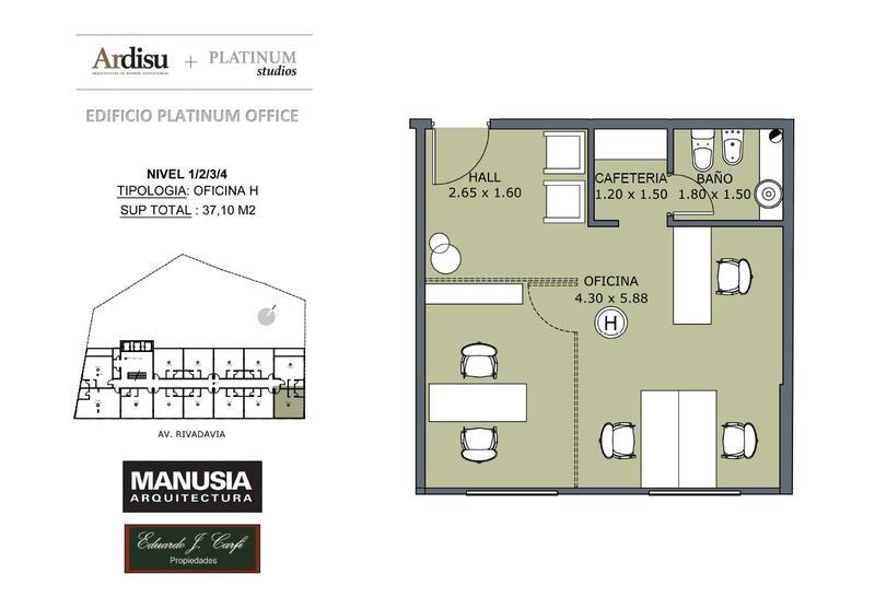 Foto Oficina en Venta en  Castelar Norte,  Castelar  Platinum Office - Rivadavia 19.861 (3H)