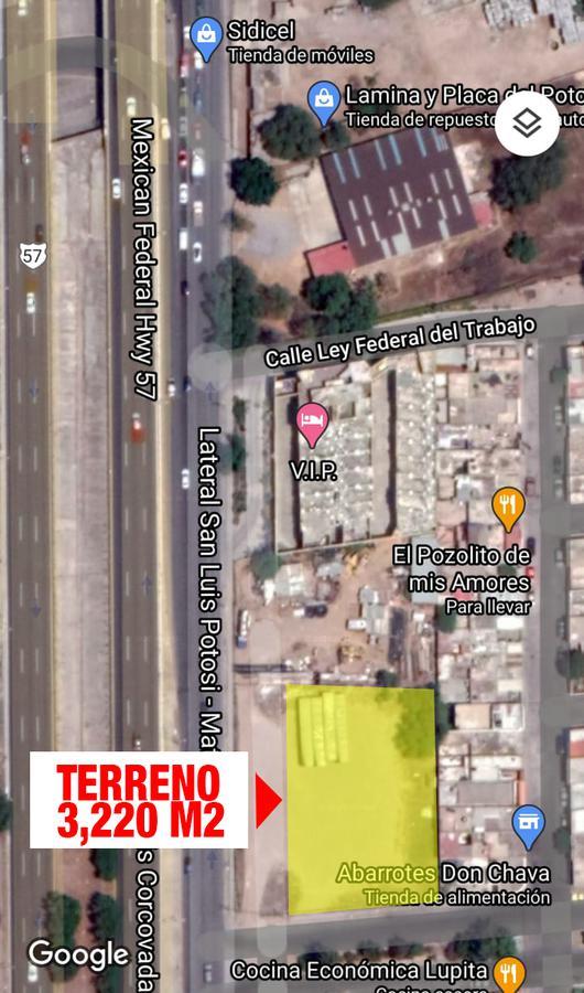 Foto Terreno en Venta en  San Luis Potosí ,  San luis Potosí  TERRENO EN VENTA EN LATERAL DE CARRETERA A MATEHUALA, SAN LUIS POTOSI