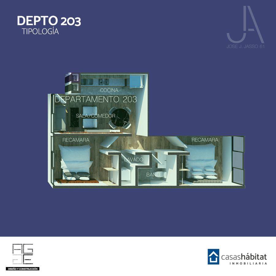 Foto Departamento en Venta en  Venustiano Carranza ,  Ciudad de Mexico   José J Jasso 61 - 203