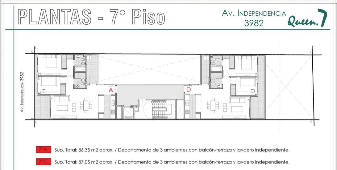 Foto Departamento en Venta en  Almagro ,  Capital Federal  Av. Independencia 3900 7°A