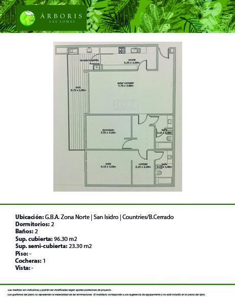 Foto Departamento en Venta en  Arboris Las Lomas,  San Isidro  ALL - 022 A