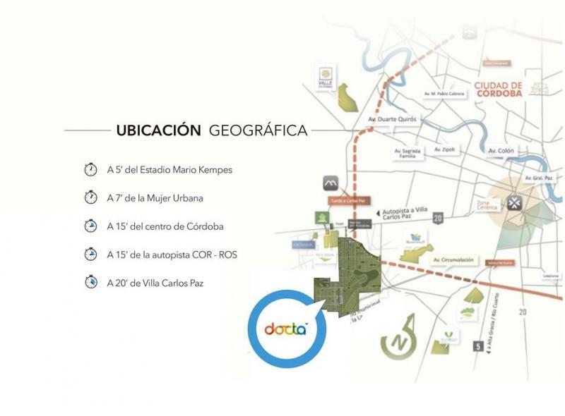 Foto Terreno en Venta en  Docta,  Cordoba Capital  Lote en Venta en La Docta Central 2 | Apto Dúplex