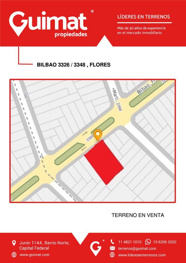 Foto Terreno en Venta en  Flores ,  Capital Federal  BILBAO al 3300