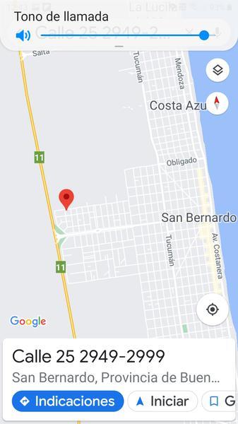 Foto Terreno en Venta en  San Bernardo Del Tuyu ,  Costa Atlantica  calle 25 N° al 2900