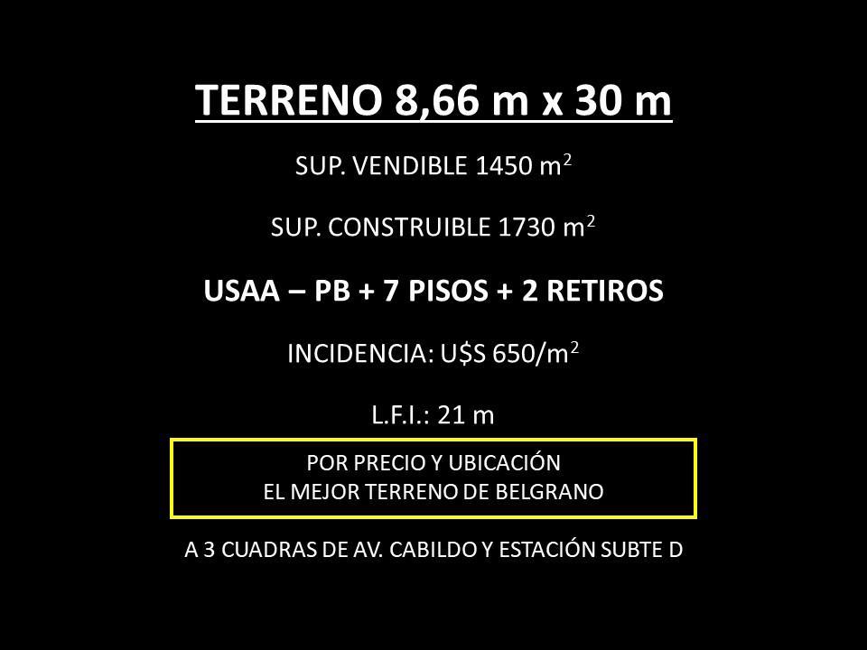Foto Terreno en Venta en  Belgrano ,  Capital Federal  MOLDES al 2900
