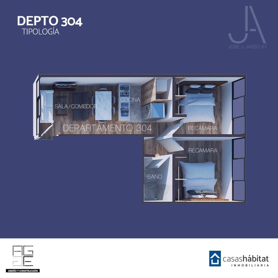 Foto Departamento en Venta en  Venustiano Carranza ,  Ciudad de Mexico  José J Jasso 61 - 304