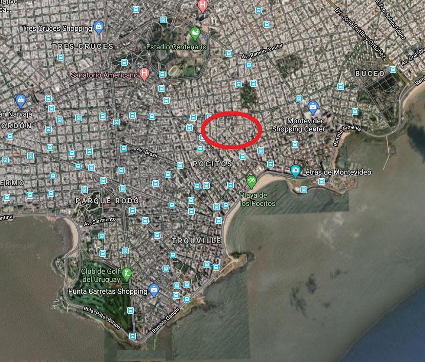 Foto Terreno en Venta en  Pocitos ,  Montevideo  Terreno 17 mts de frente - Próx. Lorenzo Pérez y Fco. Muñoz