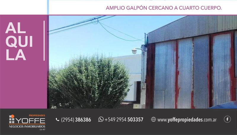 Foto Galpon en Venta | Alquiler en  Villa Tomás Mason Norte y Sur,  Santa Rosa  Santiago del Estero al 900