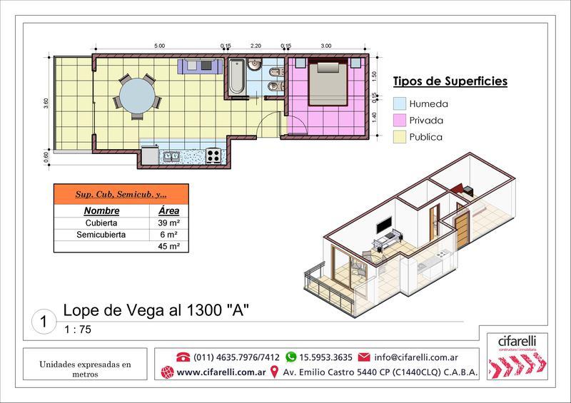 Foto Departamento en Venta en  Villa Luro ,  Capital Federal  Lope de Vega al 1300 1° A