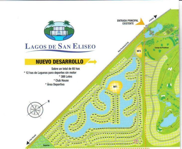 Foto Terreno en Venta en  Lagos de San Eliseo ,  Presidente Peron  Lote a la laguna en Lagos de San Eliseo