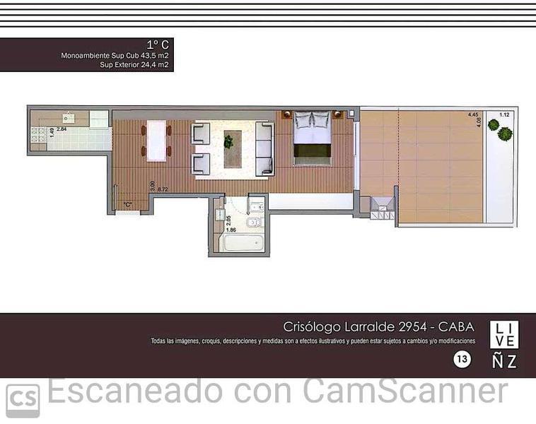 Foto Departamento en Venta en  Nuñez ,  Capital Federal  Crisólogo Larralde 2954