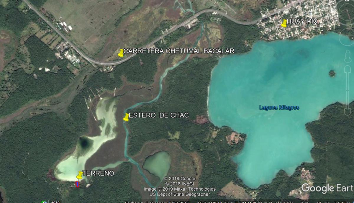 Foto Terreno en Venta en  Bacalar ,  Quintana Roo  PREDIO EN EL ESTERO DE CHAC