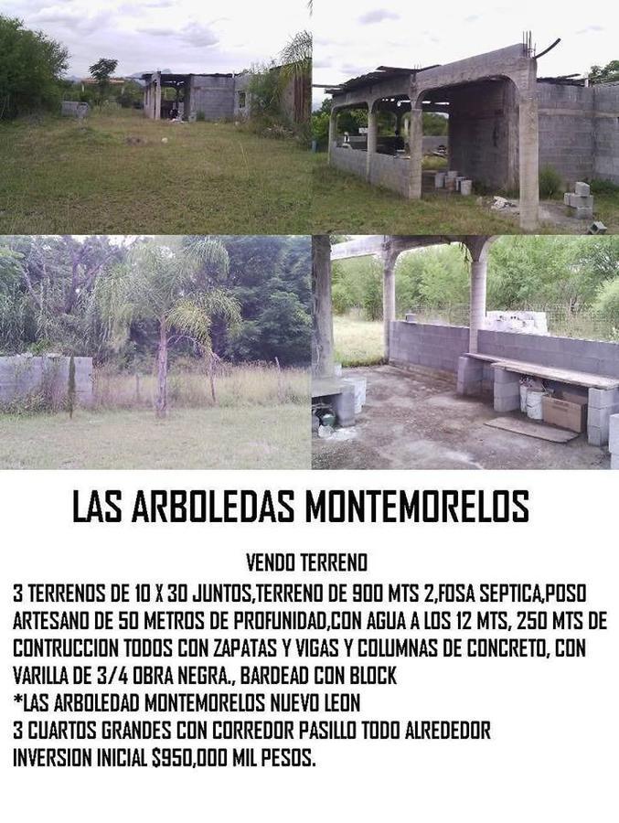 Foto Terreno en Venta en  Las Palmas,  Montemorelos  QUINTA EN OBRA  LAS PALMAS , MONTEMORELOS NL